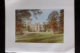 Morris Seats 1860's Antique Print. Mulgrave Castle